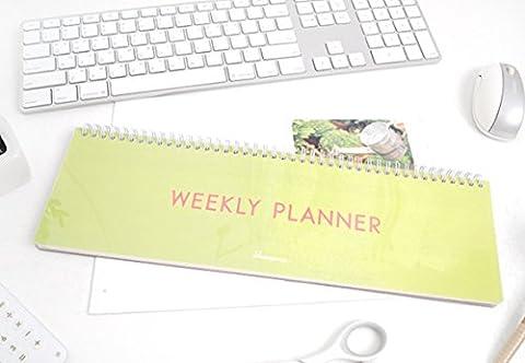 Schreibtisch lang Wochenplaner–Drahtkammbindung Wochenplan Planer Pad
