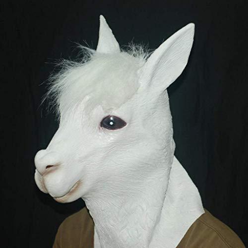 Halloween Masken Kostüm Masken Halloween Masken Alpaka Kopfbedeckung COS Tier Requisiten Heiliges Biest Pferdekopf Ziege for Allerheiligen - Aller Heiligen Tag Kostüm