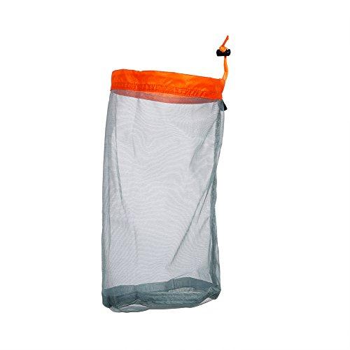 Mesh-kordelzug-verschluss (Alomejor 1 Stück Mesh Aufbewahrungstasche Ultraleicht Mesh Kordelzug Sack Sachen Aufbewahrungstasche für eise Camping Wassersport(M-Orange))