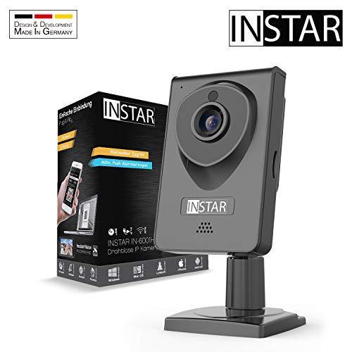 INSTAR IN-6001HD schwarz - WLAN Überwachungskamera - IP Kamera - Innenkamera - Mikrofon - Lautsprecher - Bewegungserkennung - Nachtsicht -...
