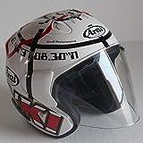 Berrd Motorradhalbhelm Klassiker Vierjahreszeitenhelm Unisex Persönlichkeit Design Racing Doppel D Ring Schnalle leicht tragbar - transparent XM