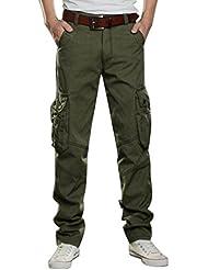 Baymate Homme Vintage Cool style militaire Sports de combat Casual Cargo Pantalon