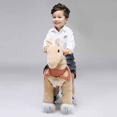UFREE Action Pony Ride on horse with braids 29