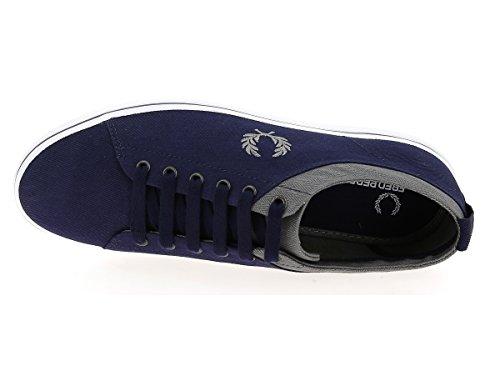 Fred Perry Hallam Twill Carbon Blue Falcon Grey B8272D41, Scarpe sportive Bleu marine