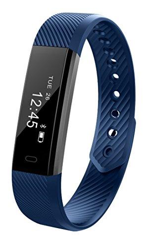 Smart Fitness Activity Tracker, Muzili YG3 Sports Armband Wristband Schrittzähler Touchscreen mit Step Tracker / Kalorienzähler / Sleep Monitor Tracker / Call Benachrichtigung Push für iPhone iOS und Android Phone …