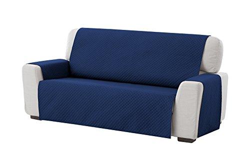 Textilhome - Funda Cubre Sofá Circus, 2 Plazas, Protector para Sofás Acolchado Color Azul