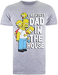 Simpsons Greatest Dad In the House, T-Shirt Homme, Gris, X-Large