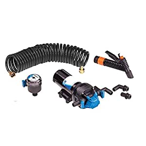 Jabsco HotShot Series w/25' HoseCoil - Quick Disconnect Ports/PumpGard Strainer