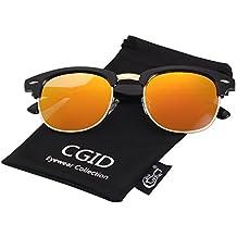 Pro Acme Einteiliges Design Randlose Sonnenbrille Ultra kühn bunter Mono-Block (Black, 58)