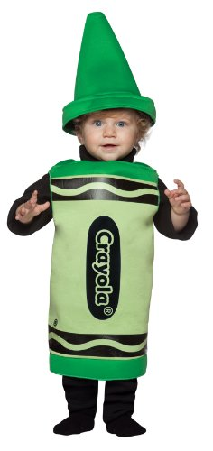 Toddler Green Crayon Fancy Dress Costume 24 Months (Crayon Crayola Green)