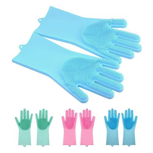 2 pares guantes mágicos silicona depurador lavado