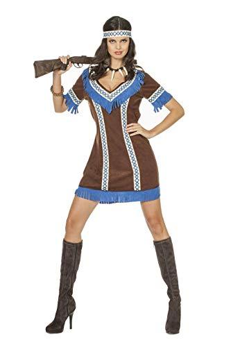 Indianer Kostüm Dunkelbraun - The Fantasy Tailors Indianer-Kostüm Damen Indianer-Kleid