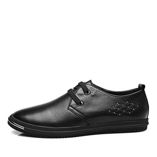 GRRONG Uomo Casual Scarpe Uomo Scarpe Uomo Scarpe Uomo Scarpe Tide Shoes Black
