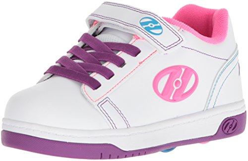 Heelys Unisex-Kinder X2 Fitnessschuhe, Mehrfarbig (White/Purple/Neon Multi 000), 34 EU