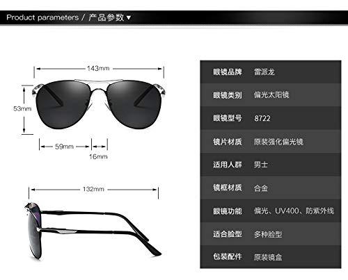 Shengjuanfeng-brillen Polarisierte Linse Spiegel UV-Schnitt Sonnenschutz Retro modische Brille wischen Fall mit Fall Unisex-Sonnenbrille Accessoires