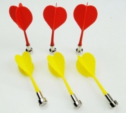 Lyanther 6 Piezas Bullseye Target Red Yellow Plastic
