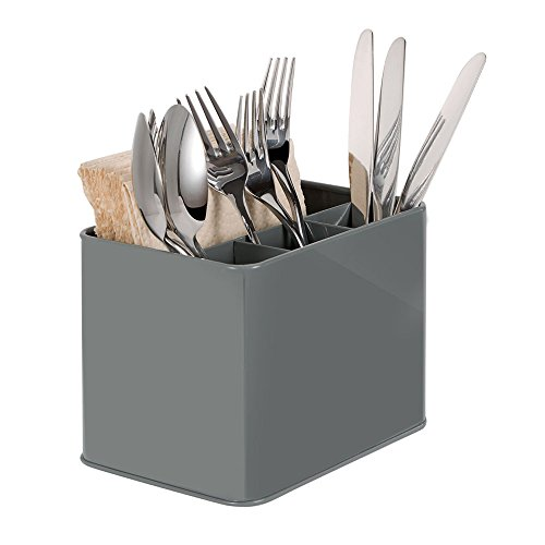 GA Homefavor Cutlery Flatware Organizer Napkin Holder Condiment Holder, Multi-Purpose Organizer for Silverware