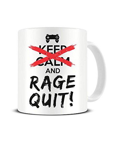 -Kaffeetasse mit Aufschrift Keep Calm and Rage Quit ()