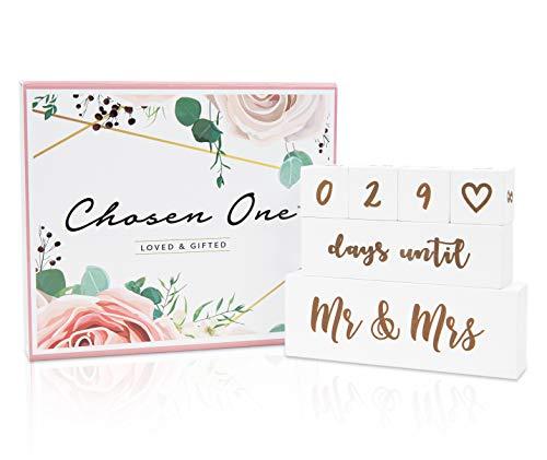 Chosen One Countdown-Block-Set für Hochzeiten, doppelseitig, Countdown-Kalender für Hochzeit, Geschenk für Brautpartys, Verlobungsgeschenke, Hochzeitsgeschenke für Braut und Bräutigam