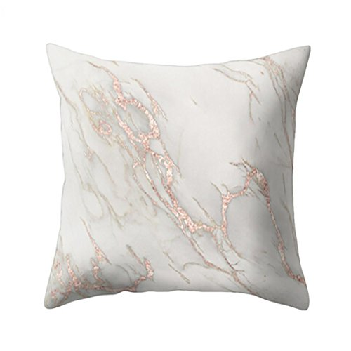 Ronamick Kissenbezug Kissenhülle 45x45 cm Geometrische Marmor Textur Dekokissen Fall Kissenbezug Sofa Home Decor (7D)