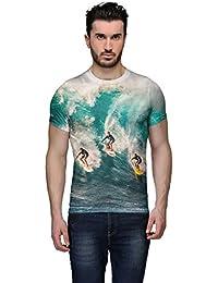 Wear Your Mind Multi-Coloured Cotton T-Shirt For Men CST213