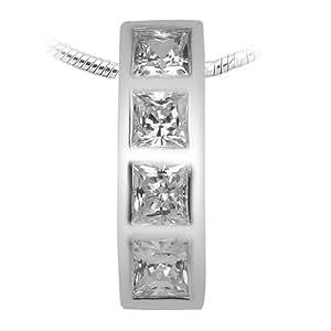 Peora Valentine Sterling Silver Cubic Zirconia Pendant PP1012