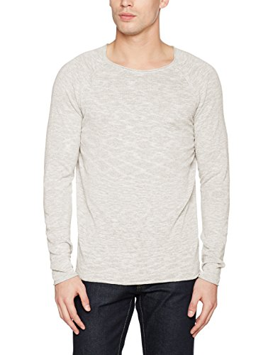 SELECTED HOMME Herren Pullover Shnclash Linen Crew Neck Rosa (Ashes Of Roses Detail:Twisted with Egret)