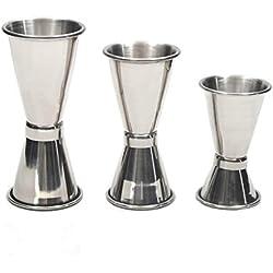 Casavidas - Mezclador medidor de vaso de acero inoxidable para cóctel, medidor de bebidas, barra de coctelería: S