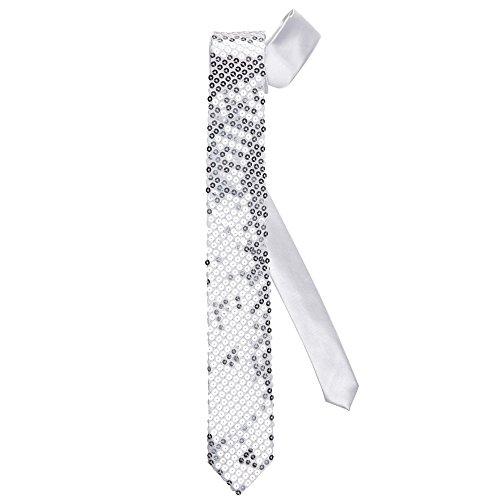 WIDMANN Cravatta Paillettes per Adulti Argento Taglia Unica VD WDM9061S