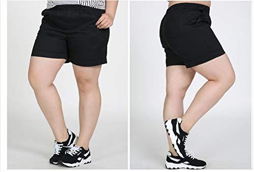 LKJH Shorts für FrauenSommer Frauen Extra Große Shorts Mitte Taille Elastische Taille Baumwolle Plus Größe, XL