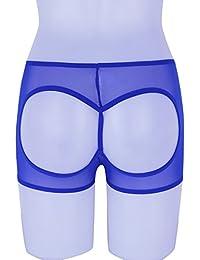 Agoky Damen Unterwäsche Transparente Unterhosen Panties Po-frei Höschen  Schlüpfer Hot Pants Mesh Shorts Boxer 9da6fa4635
