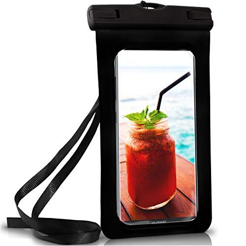 ONEFLOW Wasserdichte Hülle für Huawei | Full Cover in Schwarz 360° Unterwasser-Gehäuse Touch Schutzhülle Water-Proof Handy-Hülle für Huawei Mate 10 Lite 10 Pro 20 7 8 9 UVM Case Handy-Schutz
