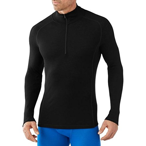Smartwool Men 's NTS Light 200 Zip T Base Layer XX-Large schwarz (T-shirt Smartwool-wolle)
