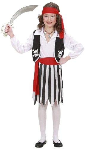 Widmann 02638 - Kinderkostüm Piratin, Hemd mit Weste, Rock, Gürtel und Stirnband, Größe 158 (Mädchen Joker Kostüm Ideen)