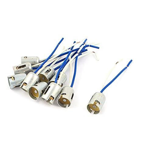 sourcingmap® 10 Pcs 1156 BA15S S25 parallèle voiture queue frein ampoule LED lumière extension