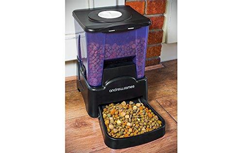 Andrew James – Programmierbarer Automatischer Futterautomat / Futterspender für Haustiere – 90 Tage / Mahlzeiten – Mit Sprachaufnahme-Funktion – 2 Jahre Garantie - 8