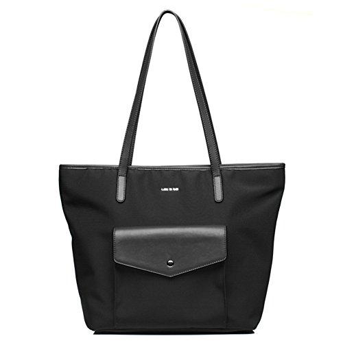 Ladies singola borsa a tracolla/borsa di tela/semplice nylon oxford panno tote bag-A A