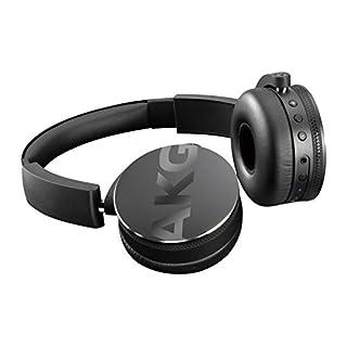 AKG  Y50BTBLK Portable Foldable On-Ear Rechargeable Bluetooth Headphones - Black