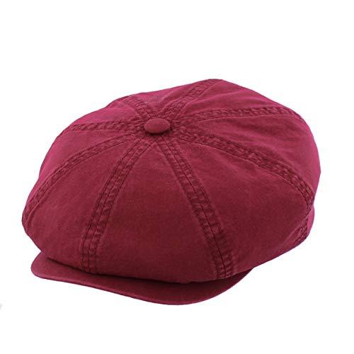 Stetson Hatteras Cap Delave Organic Cotton Schirmmütze aus Bio-Baumwolle - rot/85 - S