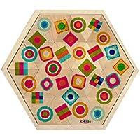 Steckspiele rot 48 Stück  Ø ca 46 mm NEU Legespiel Legemuster Legematerial  Halbringe Holzspielzeug