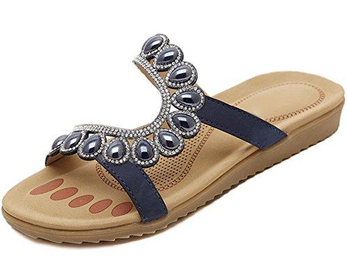 Strass Sandalen Sommer Sandalen Casual Sandalen flache Schuhe boln