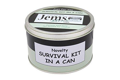 Viel Glück Survival Kit in einer Dose. Humorvolles Geschenk–Geschenk und Karte All in One. New Job, Leaving, abwandern, Weg etc. Dosenfarbe kann, Black/Mint, 10 x 6 cm