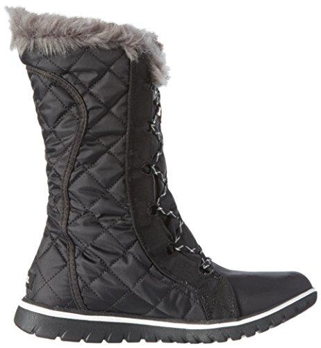 Sorel Cozy Cate, Damen Hohe Sneakers Schwarz (Black, Sea Salt 010Black, Sea Salt 010)