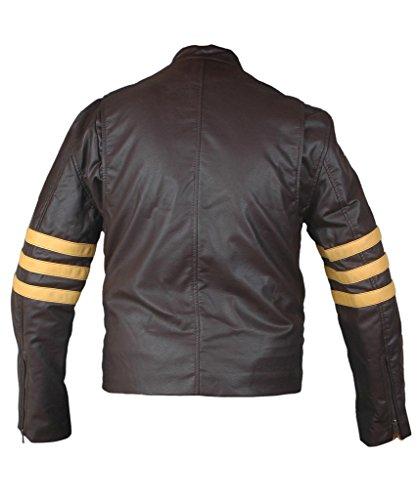 F&H Men's X-Men Origins Wolverine Genuine Leather Jacket brown