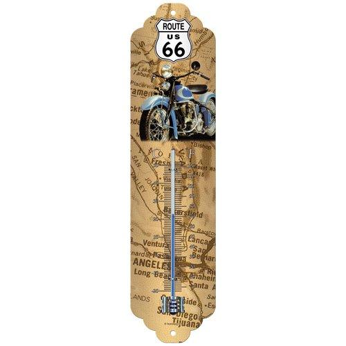 Nostalgic-Art 80114 US Highways - Route 66 Map, Thermometer