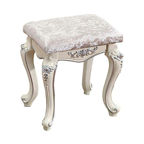 Mscxj sedie elegante geschwungende elemento decorativo romantic style plastica acciaio barocco piano light weight bench chair di piccola dimensione in resina (color : silver)