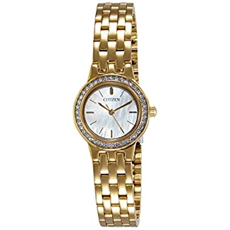 Citizen Analog Mother of Pearl Dial Unisex's Watch-EJ6102-56D