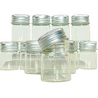 Lot 12Minis frascos botellas 4cmcm cristal con tapón de rosca tubo éprouvette Tubo de ensayo o muestras