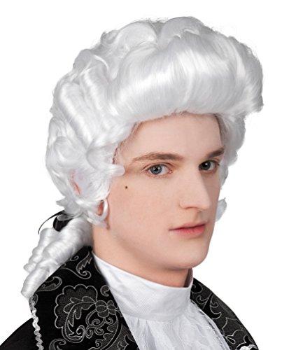 ,Karneval Klamotten' Kostüm Perücke Rokoko Luxus Mann mit Zopf Zubehör Karneval Herrenperücke