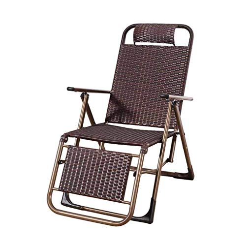 stuhl Rattan Poly Lounge Chair Liegestuhl Gartenstühle Schwerelosigkeit Lounge Chairs Strandkorb Sessel Outdoor Interior Brown ()